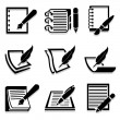 Writing icons set great for any use. Vector EPS10. — Stock Vector #63696801