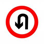 U-Turn road sign. icon great for any use. Vector EPS10. — 图库矢量图片