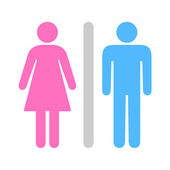 A Man and a Lady Toilet icon great for any use. Vector EPS10. — Vetorial Stock