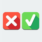Check mark icon great for any use. Vector EPS10. — Vetor de Stock
