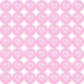 Drawing heart on pink button background. Vector EPS10. — Stock Vector