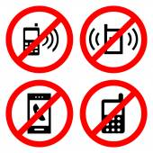 No cell phone sign Vector  EPS10 — Stock Vector