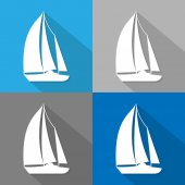 Sailboat icon great for any use. Vector EPS10. — Stock Vector