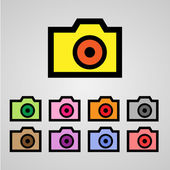 Camera icon great for any use. Vector EPS10. — Stock Vector