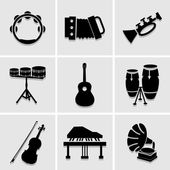 Musicians icons great for any use. Vector EPS10. — Stock Vector