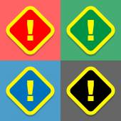 Warning icons set great for any use. Vector EPS10. — Stock Vector