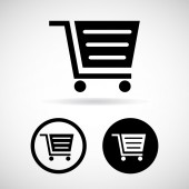 Shopping cart icons set great for any use. Vector EPS10. — Stock vektor