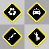 Traffic icons set great for any use. Vector EPS10. — Stock Vector