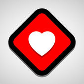 Heart icon great for any use. Vector EPS10. — Stock Vector