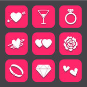 Wedding icons set great for any use. Vector EPS10. — Stock Vector