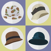Collection of Hat icons set great for any use. Vector EPS10. — Stock Vector