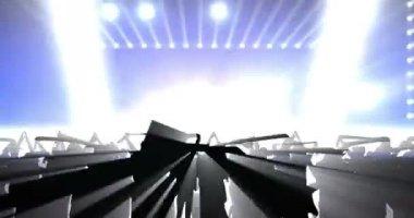 Concert happy Crowd background — Stock Video
