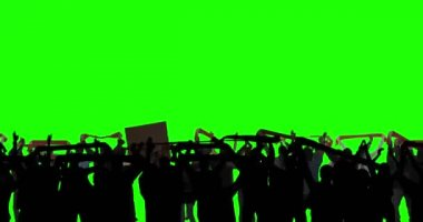 Football Fans on Green Screen — Wideo stockowe