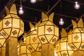 Northern Thai Style Lanterns at Loi Krathong — Stock Photo