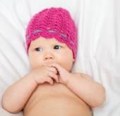 Adorável bebê recém-nascido — Fotografia Stock