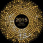 с новым годом 2015 - огни дискотеки шестиугольника — Стоковое фото #55886341