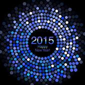 Happy New Year 2015 - Hexagon Disco lights — Stock Photo
