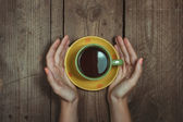 Hands Holding Cup — Stok fotoğraf