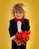 Little Boy Gentleman — Stock Photo