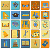 Education Flat Icon Set — Stock Vector