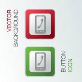 Telephone handset — Stock Vector