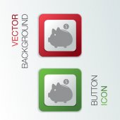 Piggy bank. — Stock Vector