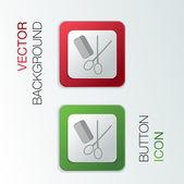 Comb and scissors. — Stock Vector
