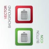 Basket garbage. — Vector de stock