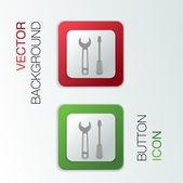 Destornillador y llave. — Vector de stock