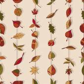 Pattern of autumn leaves. — Stock Vector