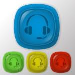 Customer support, headphone — Stock Vector #54182257