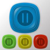 Pause-web-symbol — Stockvektor