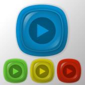 Play web icon — Stock Vector