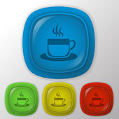 Cup of hot drink icon — Stock Vector