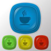 Tasse heißes getränk-symbol — Stockvektor