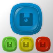 Floppy, diskette icon — Stock Vector
