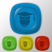 Graduate hat avatar. — Stock Vector