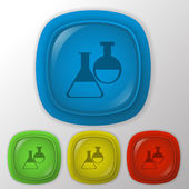 Bulb symbol chemistry. — Stockvektor