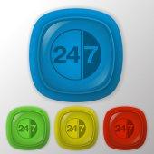 Karaktär 24 7 tecken. — Stockvektor