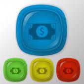 Dollar bill icon. — Stock Vector