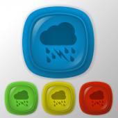 Cloud rain lightning  icon — Stock Vector