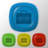 Briefcase symbol — ストックベクタ