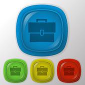 Briefcase symbol — Stock Vector