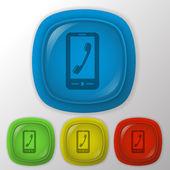 Telephone handset icon — Stock Vector