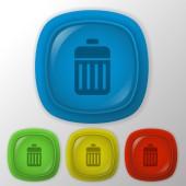 Basket garbage — Stock Vector