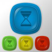 Hourglass waiting — Stock Vector