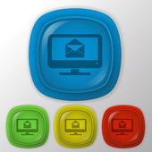 Monitor, letter envelope — Stock Vector