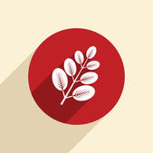 Branch with leaves icon — Stock Vector