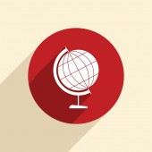 Globe symbol of geography. — Stock vektor