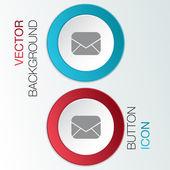 Postal envelope sign. — Stock Vector